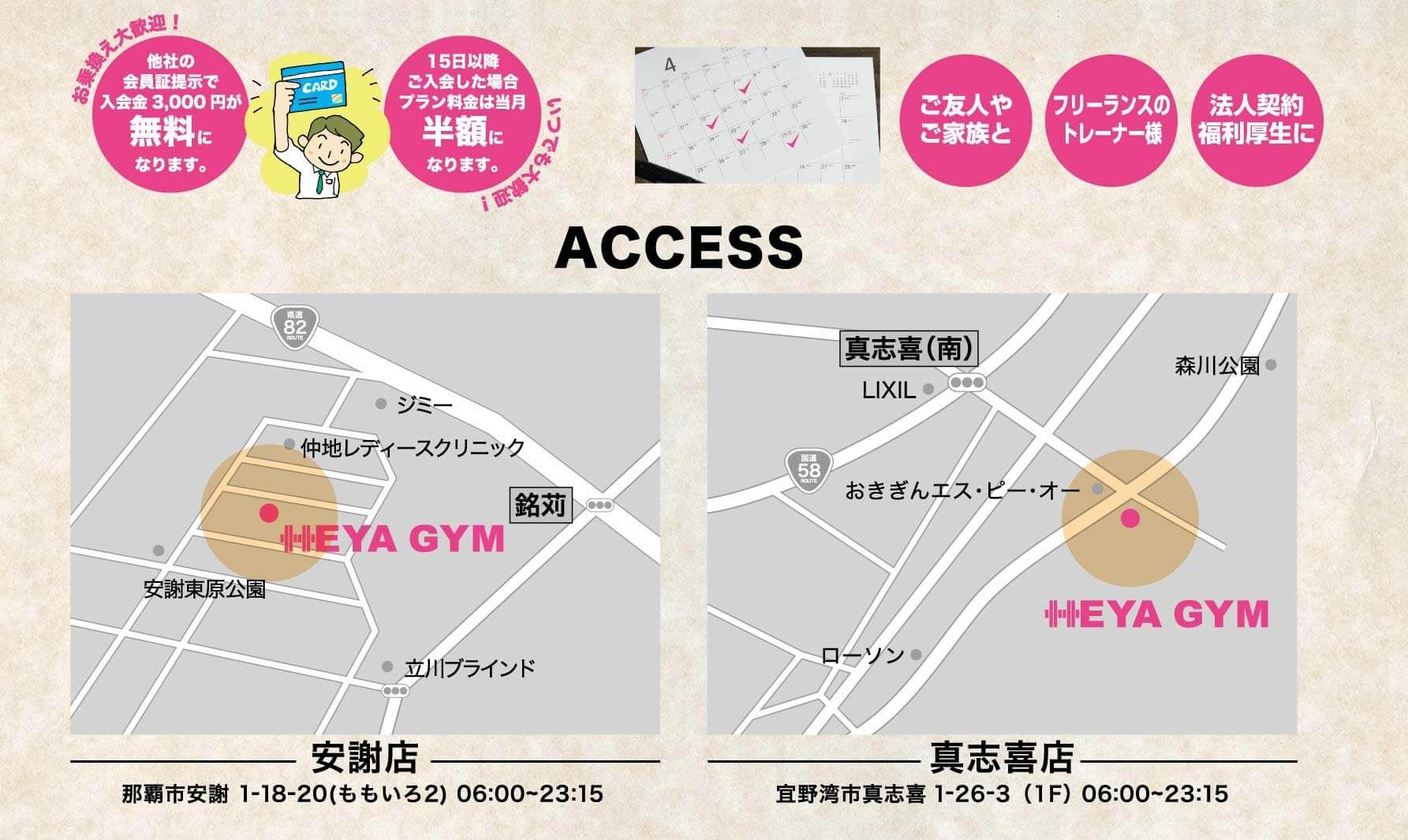 ヘヤジム(HEYA GYM) へのアクセス